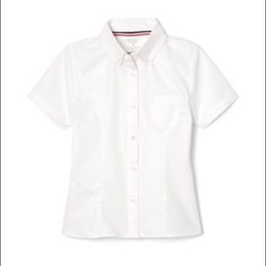 French Toast Girls Short Sleeve Oxford With Darts